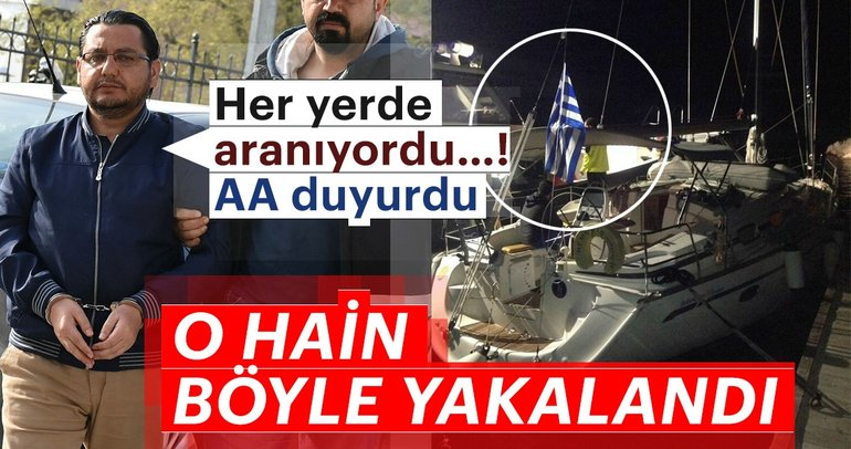 Son dakika: FETÖ'nün bölge imamı Yunanistan bayraklı yatta yakalandı