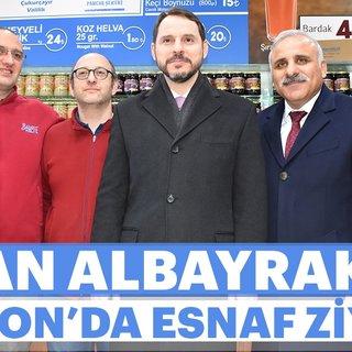 Bakan Berat Albayrak, Trabzon'da esnaf ziyaretinde bulundu