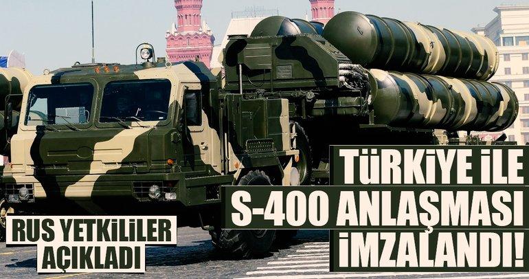 Rus yetkililer: Türkiye ile S-400 anlaşması imzalandı