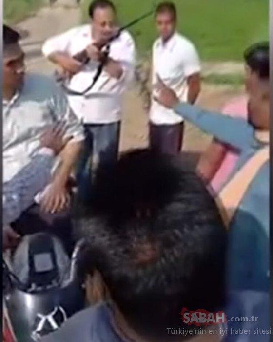 Hindistan'da kan donduran olay! Kameralar önünde gerçekleşti