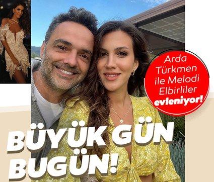 Büyük gün bugün: Arda Türkmen ile Melodi Elbirliler evleniyor!
