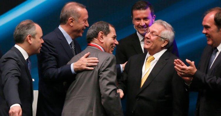 Cumhurbaşkanı Erdoğan, Dursun Özbek'i tebrik etti