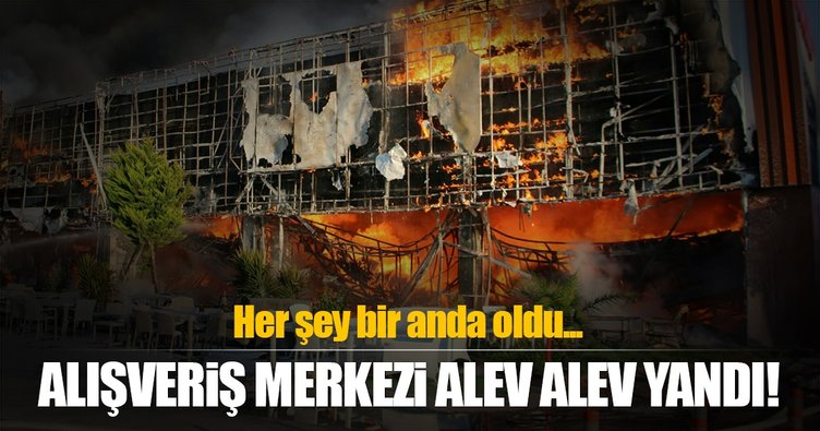 AVM'deki yangın korkuttu