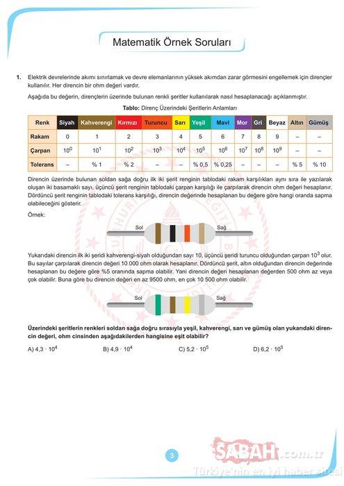 LGS örnek sorular 2020 yayınlandı! Ekim ayı LGS sözel ve sayısal örnek soru kitapçığı burada!
