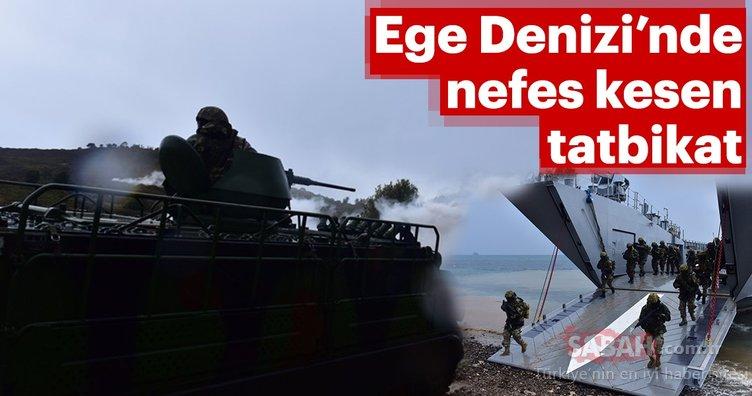 Deniz Kuvvetleri'nden Ege'de nefes kesen tatbikat!