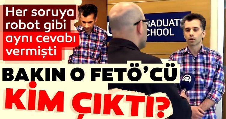 FETÖ'cü Kudret Ünal'in oğlu Abdullah Ünal muhabirin sorularından kaçmaya çalıştı!