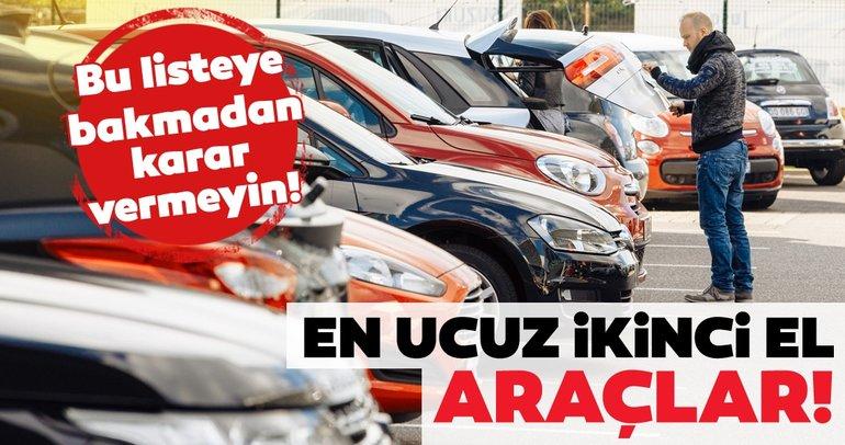 Sahibinden satılık 100 bin lira altında ikinci el arabalar! 2019 ikinci el araç listesi belli oldu