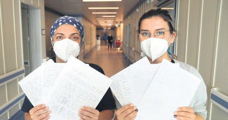 Sağlık çalışanlarını duygulandıran mektup