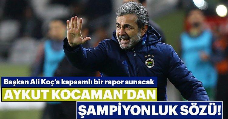 Aykut Kocaman'dan şampiyonluk sözü
