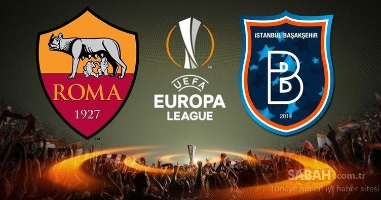 Roma Başakşehir maçı saat kaçta, hangi kanalda canlı yayınlanacak? Roma Başakşehir maçı canlı yayın kanalı ve saati!