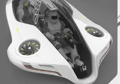 Honda'dan uçan otomobil