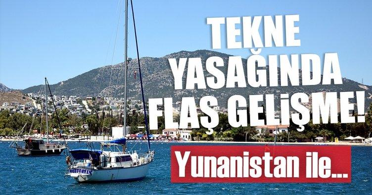 Son dakika: Yunanistan'a tekne yasağında flaş gelişme