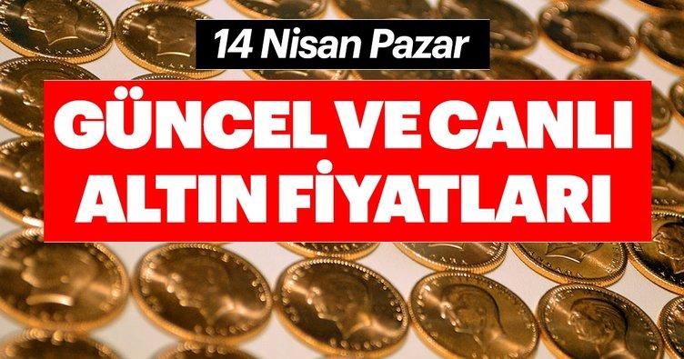 Son dakika habeir: Altın fiyatları son durum! 14 Nisan Pazar Gram, çeyrek, yarım altın fiyatları ne kadar?