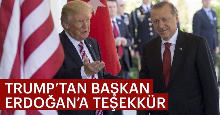 Son Dakika Haberi: Trump'tan Başkan Erdoğan'a teşekkür