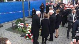 Almanya Cumhurbaşkanı, 5 Türk'ün öldürüldüğü olay yerine çiçek bıraktı | Video