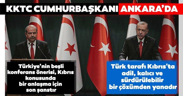 Son dakika: Başkan Erdoğan ile KKTC Cumhurbaşkanı Tatar'dan önemli açıklamalar