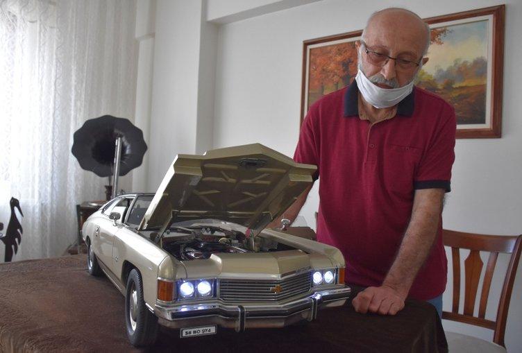 Görenler inanamıyor! Tutkunu olduğu klasik otomobilin minyatürünü 36 yılda yaptı