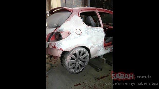 Hurda olarak almıştı... Peugeot 206'nın şaşırtıcı değişimi!