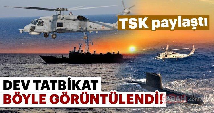 TSK, Mavi Balina Tatbikatına ilişkin görüntüleri paylaştı