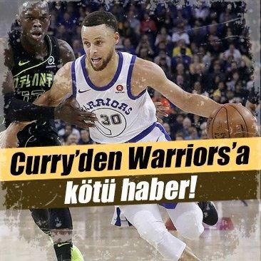 Stephen Curry'den Golden State Warriors'a kötü haber