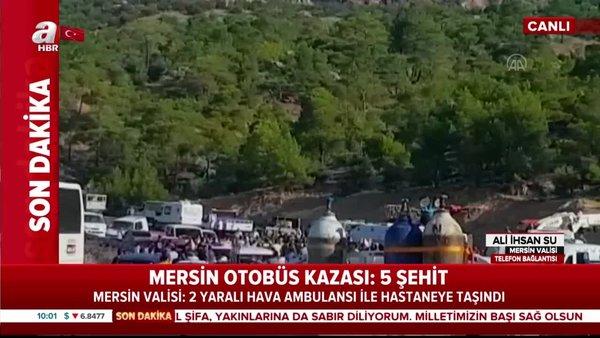 Son dakika: Mersin Valisi'nden otobüs kazası hakkında canlı yayında açıklama | Video