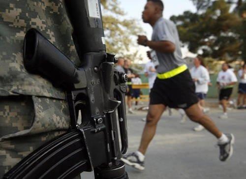 ABD askerleri  11 eylül anısına koştu