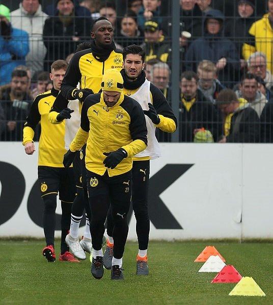 Usain Bolt, Borussia Dortmund ile idmana çıktı