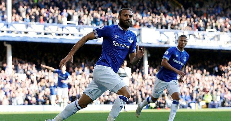 Cenk Tosun siftah yaptı, Everton 3 puanı aldı