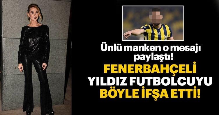 Gizem Özdilli Fenerbahçeli Şener Özbayraklı'yı Instagram'dan ifşa etti! Daha sonra özür diledi