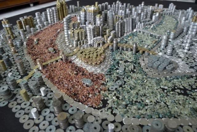 50 bin metal parayla şehir yaptı