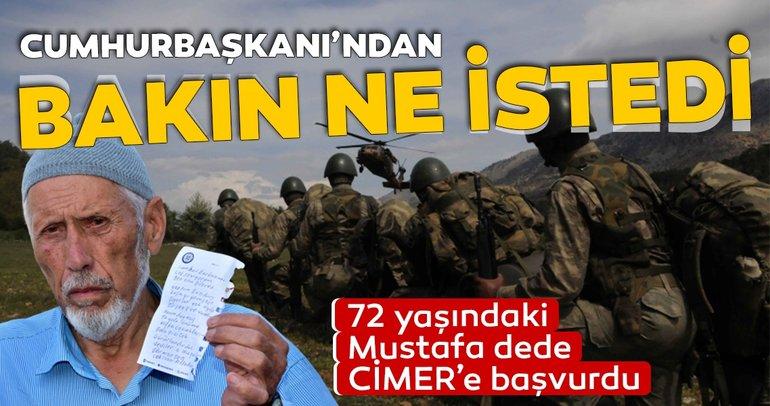 Harekata katılmak isteyen Mustafa dede için 'En büyük asker bizim asker' sloganı attılar