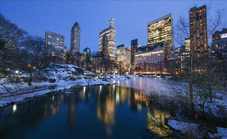 Central Park'ın gölleri dondu