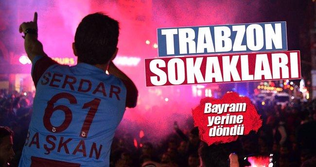 Trabzon galip geldi, sokaklar bayram yerine döndü