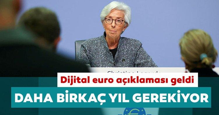 ECB Başkanı Lagarde: Dijital euro için daha birkaç yıl gerekiyor