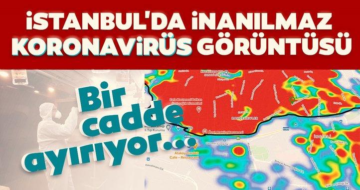 Son dakika haberleri: İstanbul koronavirüs haritasındaki görüntü hayrete düşürdü! Aradaki keskin fark...