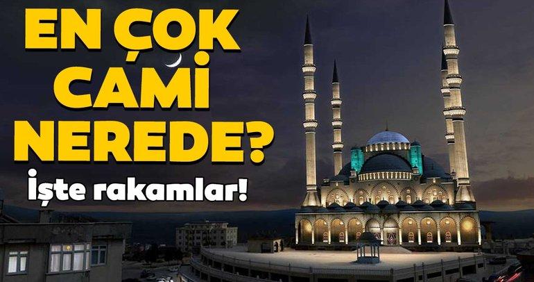 Türkiye'de il il cami sayıları! En çok cami hangi ilde? En az camiye hangi ilimiz sahip?