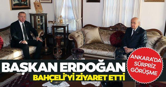 Son dakika: Ankara'da sürpriz görüşme... Başkan Erdoğan'dan Bahçeli'ye ziyaret