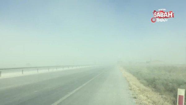Konya'da kum fırtınası zincirleme kazaya yol açtı | Video