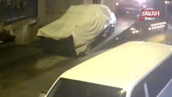 Kamyoneti sahibinin evinin önünden çekiciyle böyle çaldı | Video