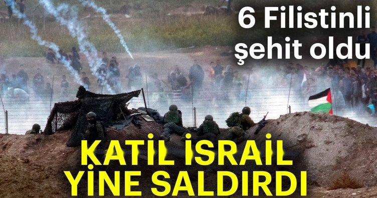 Katil İsrail yine saldırdı
