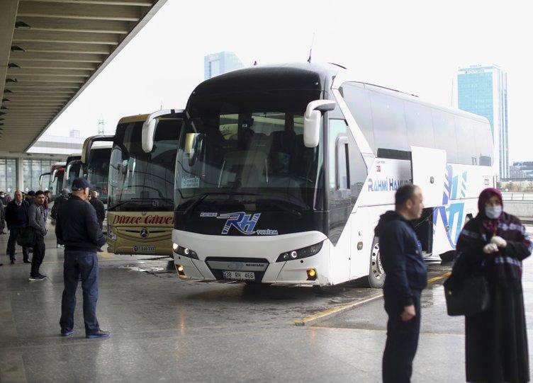 Son dakika haberi: Corona virüsü önlemleri kapsamında otobüs seferleri için uygulanan yasak başladı!