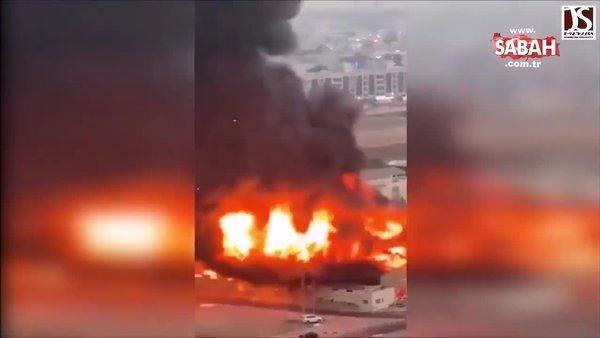 Son dakika! Birleşik Arap Emirlikleri'nin Acman kentinde büyük yangın | Video