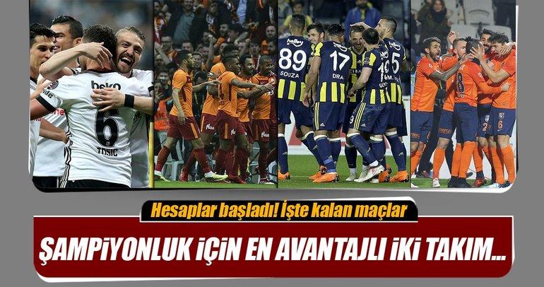 Süper Lig şampiyonluk yarışında kalan maçlar