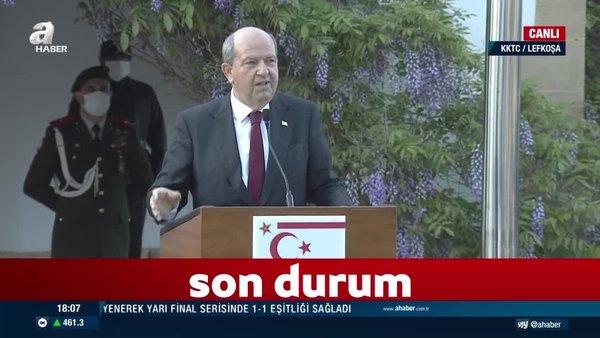 Son dakika: Dışişleri Bakanı Mevlüt Çavuşoğlu ve Ersin Tatar'dan Yunan Bakan'a tepki: Çizmeyi aşmıştır | Video