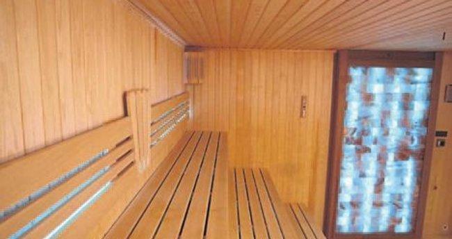 Özdilek'e ışıklı ve tuz duvarlı sauna