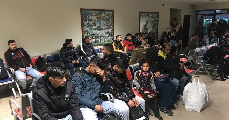 Edirne'de 247 düzensiz göçmen yakalandı