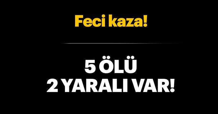 Son dakika: Eskişehir'de trafik kazası: 5 ölü, 2 yaralı