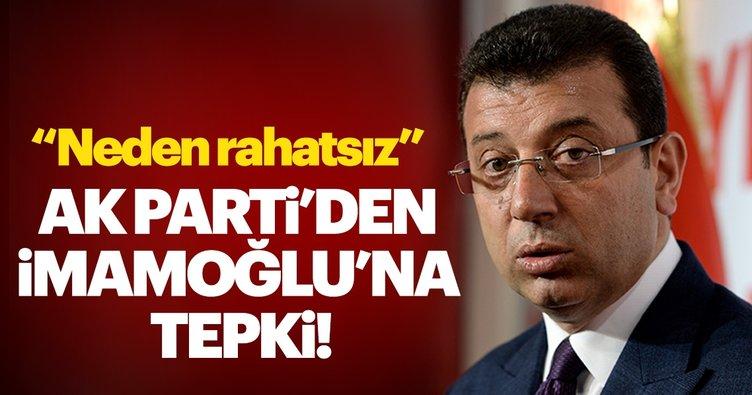 AK Parti Genel Başkan Yardımcısı Mahir Ünal'dan İmamoğlu'na tepki