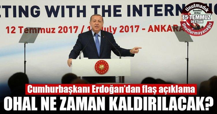 Son dakika! Cumhurbaşkanı Erdoğan: OHAL çok da uzun olmayan bir gelecekte kalkabilir