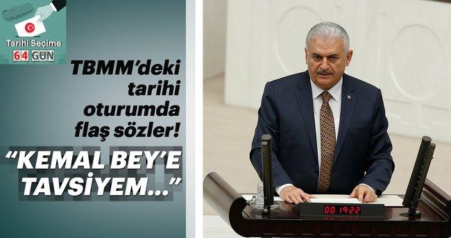 Başbakan Yıldırım: Kemal Bey elini çabuk tutsun, sıra kalmayacak